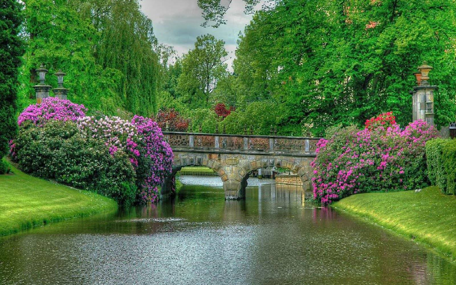 Beautiful Nature Most World Garden Bridge