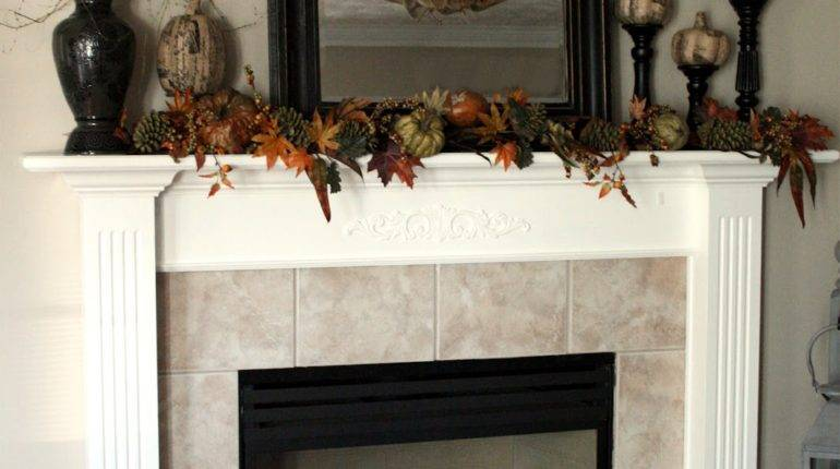 Chic Shoestring Decorating Burlap Fall Mantle