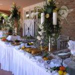 Christmas Buffet Table Decoration Ideas White Banquet Pleated
