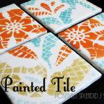 Diy Painted Ceramic Tile Tutorial Positively Splendid Crafts