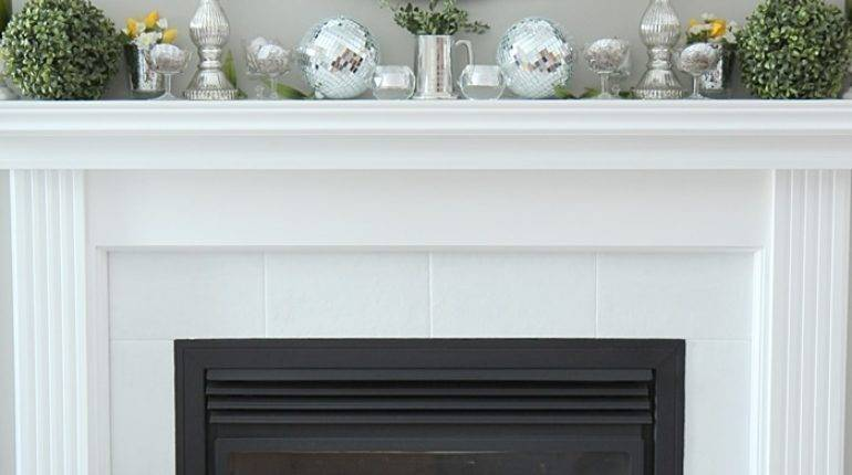 Spring Mantel Decorating Ideas Setting Four