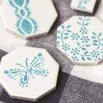 Tile Magnets Stamped Tiles Butterfly Craft Diy